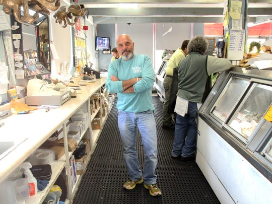 Joe DiMauro is behind the counter at Mount Kisco Seafood.