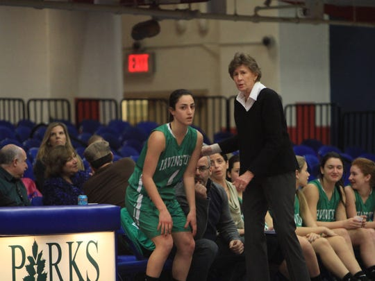 Coach Gina Maher and Irvington have become regulars at the County Center.