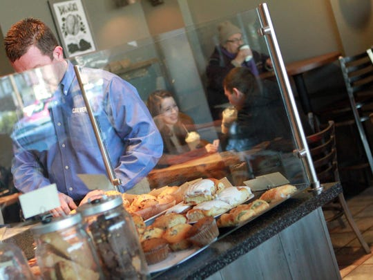 Customers enjoy pastries, coffee and sandwiches at the Brew Ha Ha! in The Rockford Shops by Gilpin. Alisa Morkides, the founder of Brew HaHa!, is opening a second business called VIM, a juice bar and farm to table restaurant that will be shared by Brandywine Coffee Roaster in the Brew Ha Ha's current location in The Rockford Shops by Gilpin. The old Brew Ha Ha will move down the strip mall to an expanded space on the corner.