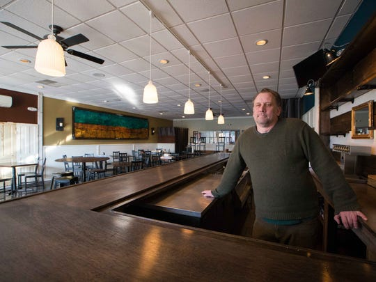 Restaurateur David Weir has used reclaimed wood, hotel doors and other salvaged material in his new restaurant, Goat Kitchen & Bar off Marsh Road. He's eyeing a Feb. 1 opening, but could just quietly open the doors soon.