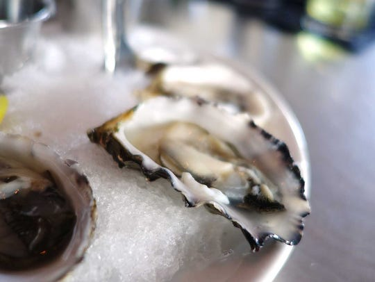 Raw oysters at The Gladly's raw bar