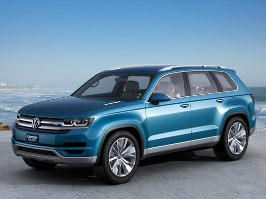 Crossblue Concept Car Is Inspiration For New Seven Penger Midsize Crossover Suv Vw Says It Will Build In Chattanooga Photo