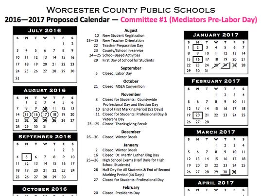Worcester calendar icon