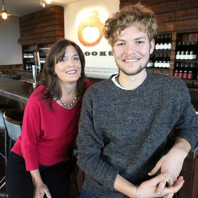 Janie Brooks Heuck poses with her nephew Pascal Brooks,