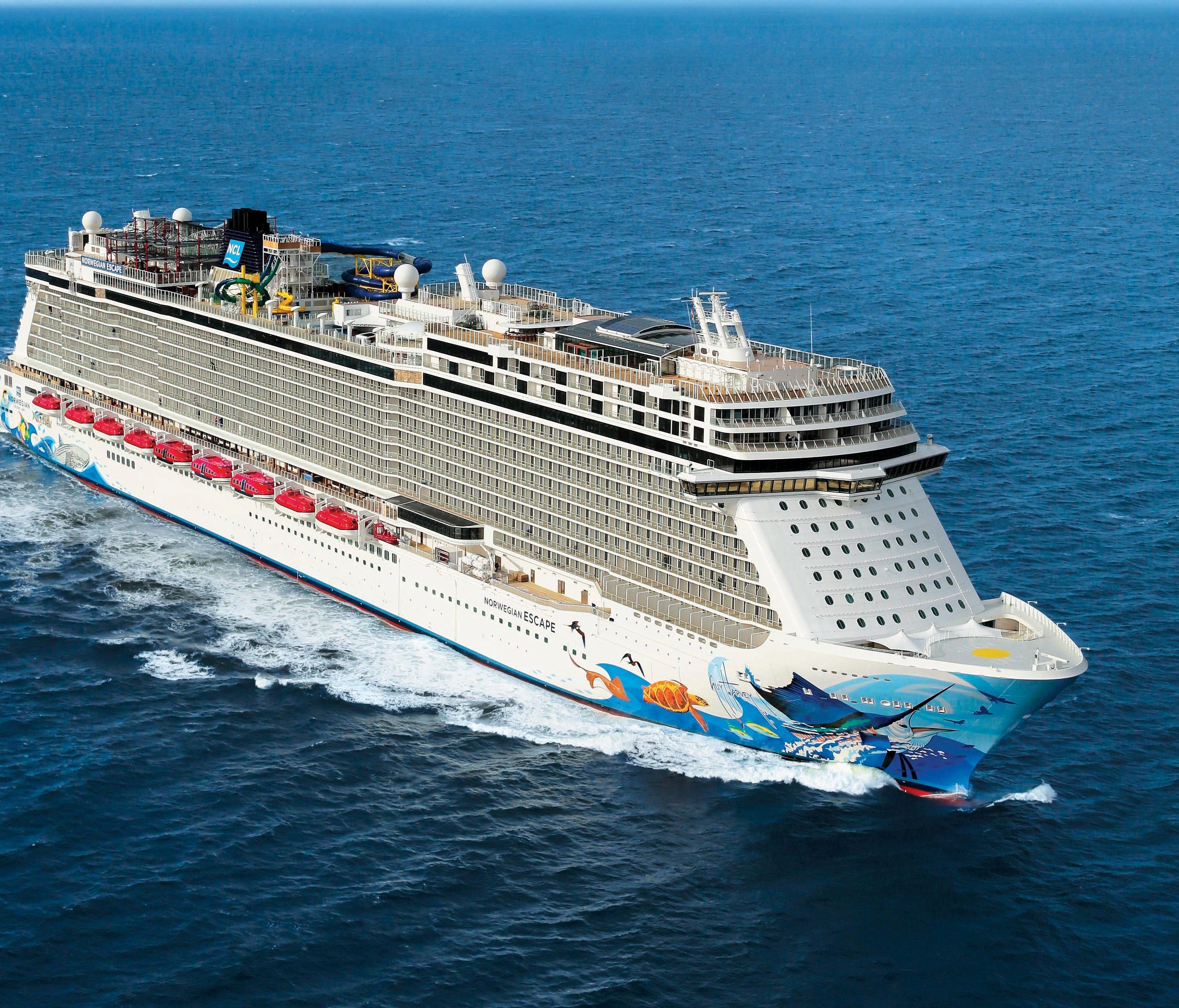 The 4,248-passenger Norwegian Escape is Norwegian Cruise Line's largest ship ever.