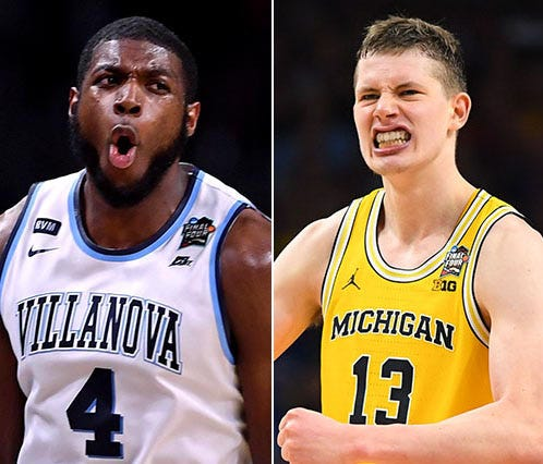 Villanova's Eric Pascall and Michigan's Moritz Wagner have led their respective teams to the Final Four.
