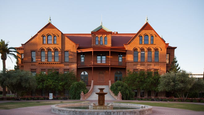 Arizona State University's Old Main was dedicated Feb. 4, 1898. It was the first building in Tempe wired for electric lighting, according to the university.