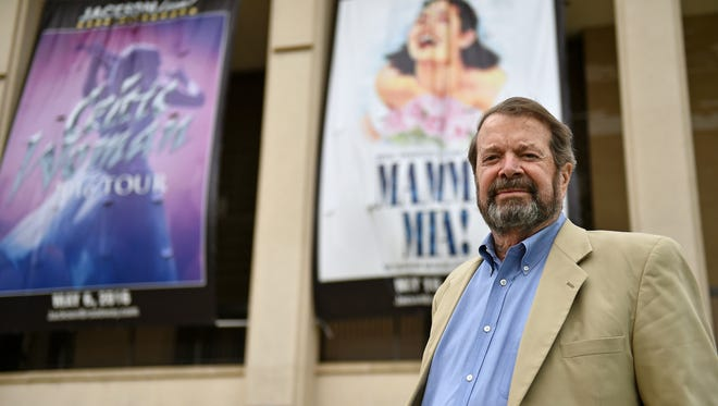 Michael Raff, deputy director of Jackson's Department of Human and Cultural Services, stands Wednesday outside the city's Thalia Mara Hall, which he says is on pace for a record year.