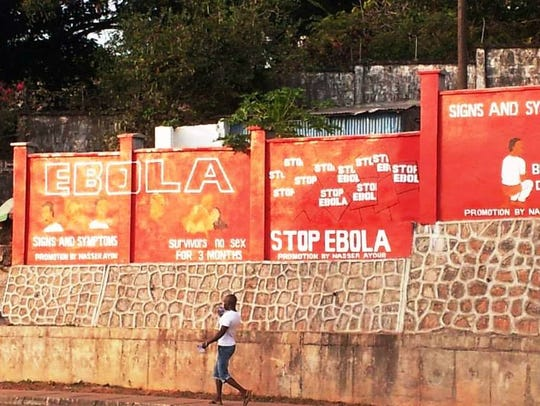 Freetown, Sierra Leone - This wall was painted by the