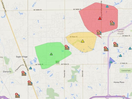 Power Restored For Thousands In Carmel Zionsville