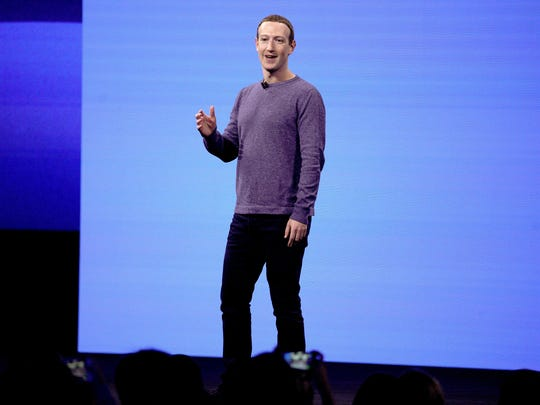 Facebook CEO Mark Zuckerberg makes the keynote speech at F8, the Facebook's developer conference, Tuesday, April 30, 2019, in San Jose, Calif.
