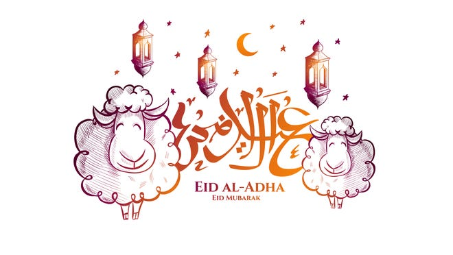 """""""Eid al-Adha"""" is a holy Muslim holiday that commemorates Abraham's obedient willingness to sacrifice his son at God's command."""