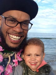Damien Payne and his son, Tyson.