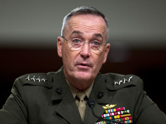 Marine Gen. Joseph Dunford,  the chairman of the Joint