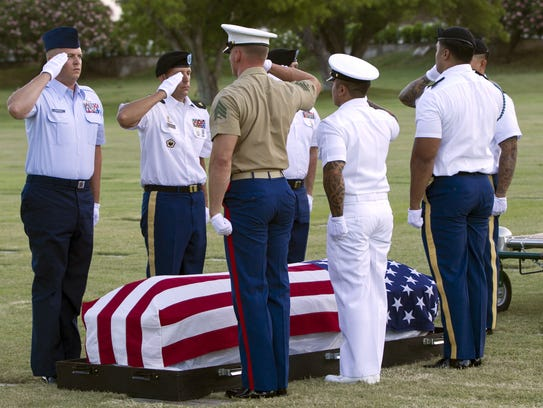 In this photo taken July 27, 2015, in Honolulu, military