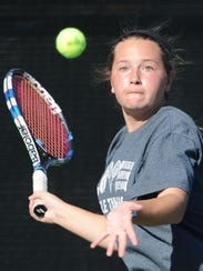 Abilene High's Lauren Schaeffer prepares to return