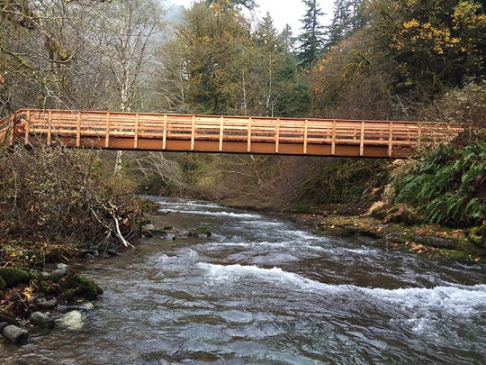 The second bridge installed on the North Fork Smith River Trail.