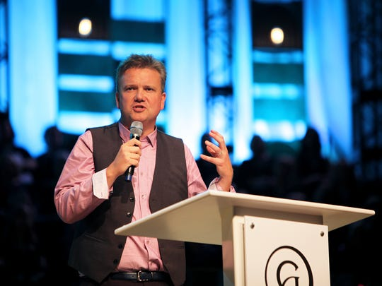 Keith Getty speaks during the inaugural Sing! conference.