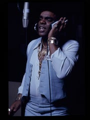The Isley Brothers' Ronald Isley in the studio.