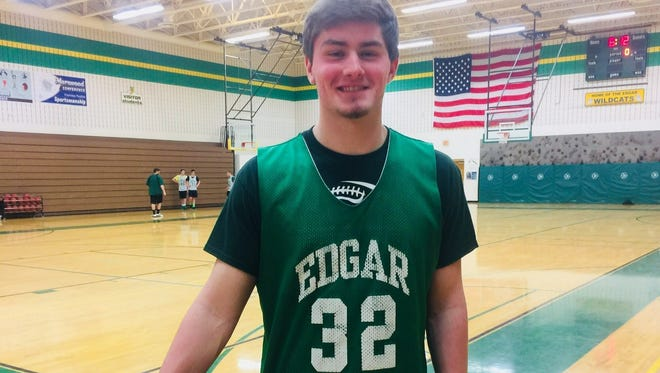 Josh Burish has been a part of the Edgar boys basketball varsity team since his sophomore season and is averaging more than 12 points a game this year.