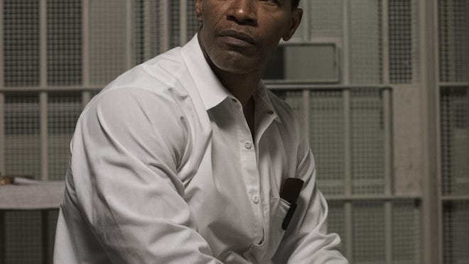 "Jamie Foxx in a scene from ""Just Mercy"""