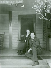 Lex 18 offers dinner shows inspired by Asheville writer Thomas Wolfe, pictured here with his mother Julia. The author Thomas Wolfe with his mother Julia.