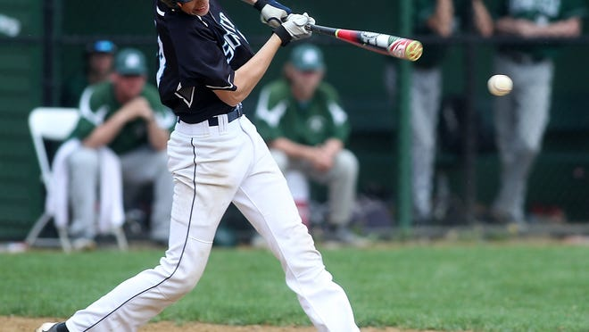 Plymouth South's Hunter Dean is being recruited to play baseball as well as football in college.