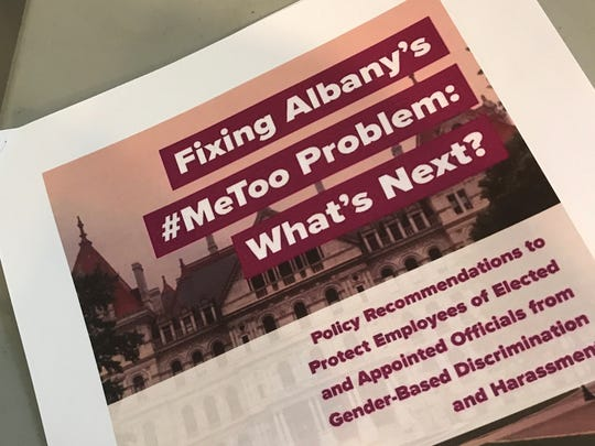 A report issued by the Sexual Harassment Working Group, former state legislative employees addressing gender-based discrimination in Albany.