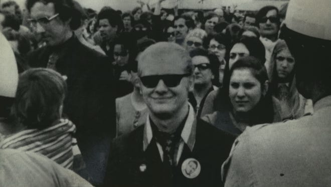Milwaukee native Arthur H. Bremer, who was later convicted of shooting Alabama Gov. George C. Wallace, is shown the day of the shooting - May 15, 1972 - at the Wheaton Plaza Shopping Center wearing the same sunglasses and Wallace button that he had on when the shooting took place later in the afternoon at another shopping center in Laurel, Md.