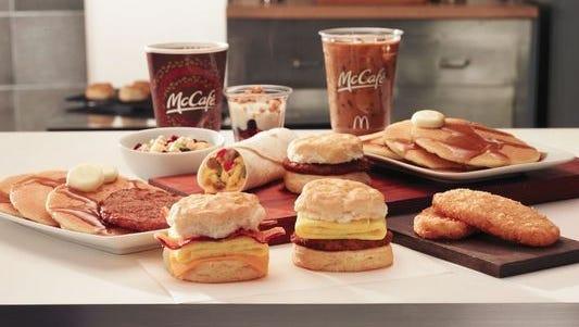 McDonald's starts serving breakfast all day in the Nashville area starting Thursday, July 9.
