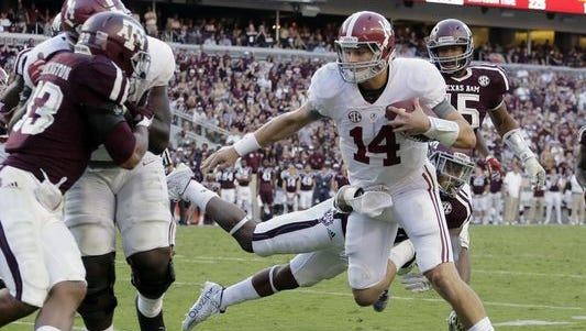 Alabama quarterback Jake Coker has won his teammates and coaches over with his daring style of play.
