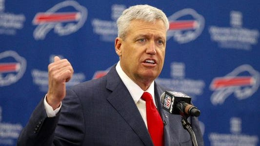 Rex Ryan became head coach of the Bills in mid-January.