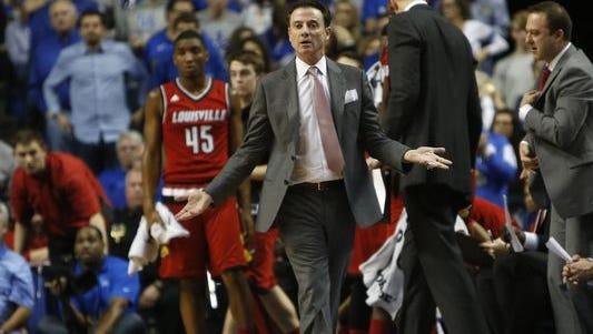 Louisville coach Rick Pitino