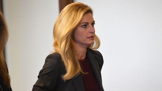 Sportscaster and TV personality Erin Andrews enters the courtroom on March 2, 2016 in Nashville, Tennessee.