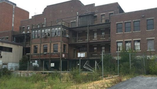 The former Newcomb Medical Center building on South State Street has been targeted by vandals. It is scheduled for demolition on Monday.