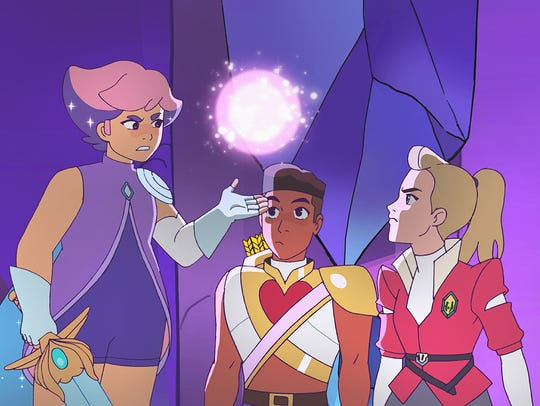 "Glimmer, Bow and Adora, seen in the new ""She-Ra and"