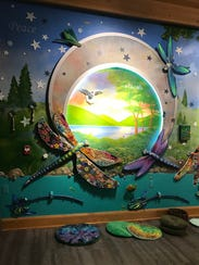 An interactive mural created by Cold Spring artist
