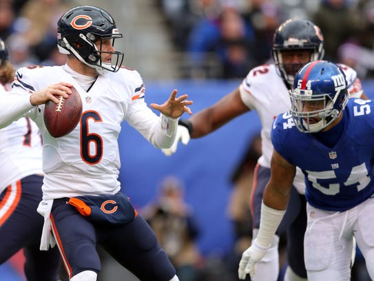 Chicago's Jay Cutler was QB in Denver during the three