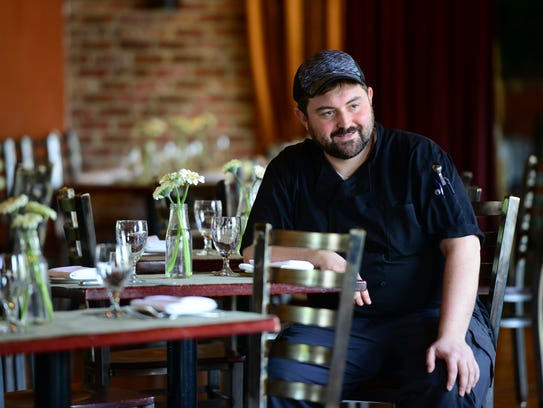 Chef Joshua Massin at his restaurant Nobo Wine & Grill