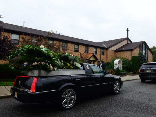 The funeral procession for Darren Drake, killed last
