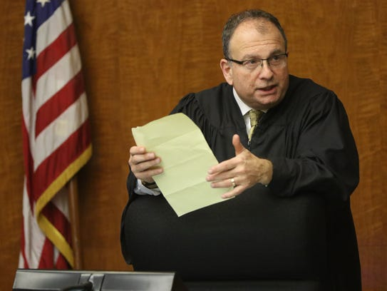 The Honorable Judge James J. Guida is shown at Bergen