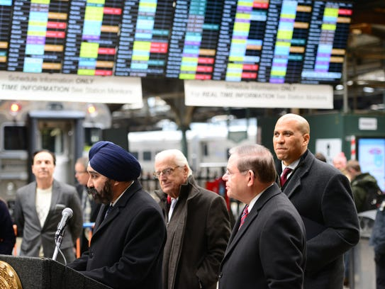 From Left, Hoboken Mayor Ravi Bhalla, U.S. Representative