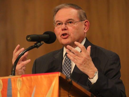Sen. Bob Menendez speaks at the seventh annual Standing