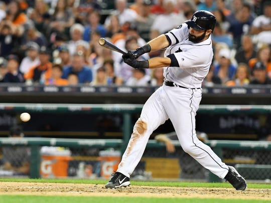 Alex Avila is hitting .297 with 11 home runs, 29 RBIs and a .947 OPS this season with the Tigers.