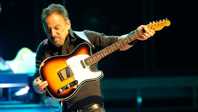 Bruce Springsteen performs with the E Street Band on May 17 at the Mohegan Sun Arena in Uncasville, Conn.