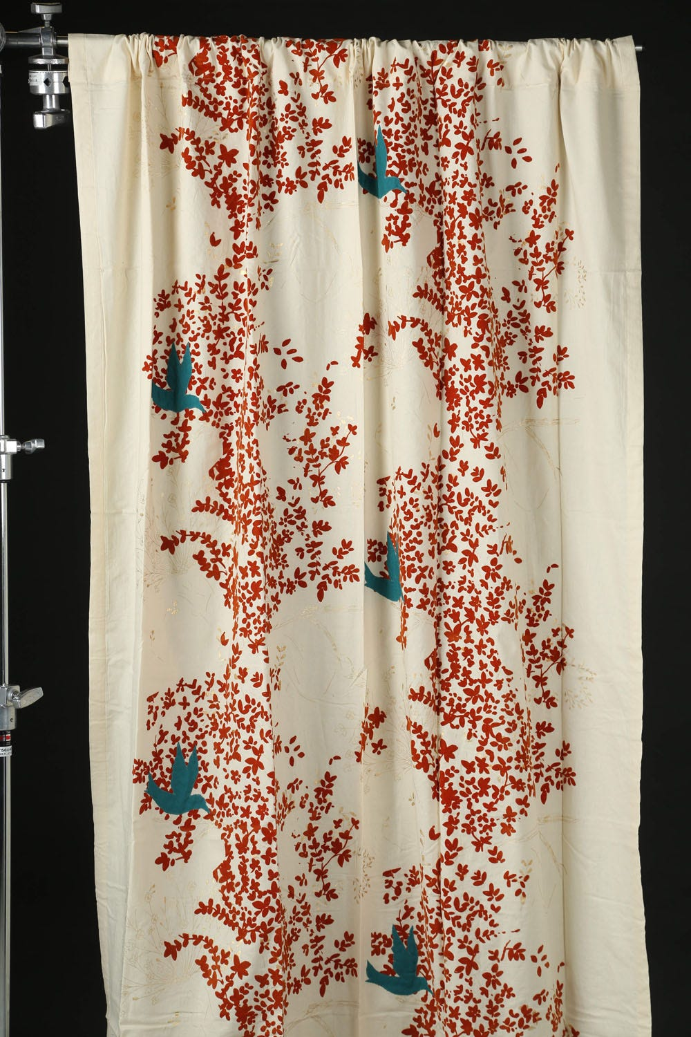 Flocked Leaves Curtain, $59.95, Pier One Imports.