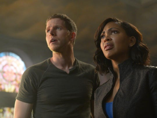 """Stark Sands and Meagan Good in the new Fox series """"Minority Report."""""""
