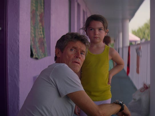 "In ""The Florida Project,"" Bobby (Willem Dafoe) keeps"