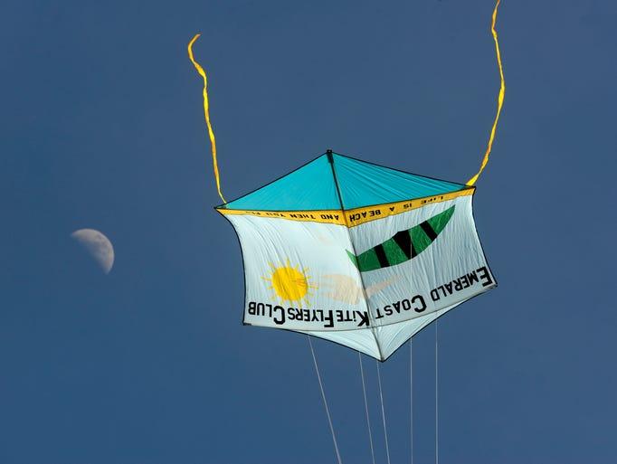 One of the Emerald Coast Kite Flyers Club's kites takes