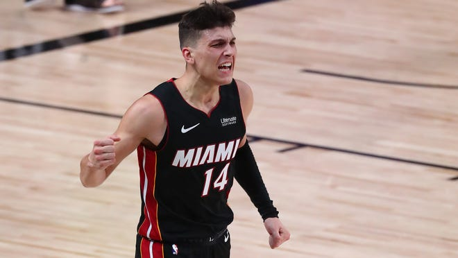 Heat rookie guard Tyler Herro is playing like a seasoned veteran during these Eastern Conference finals.